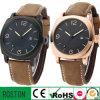 Kundenspezifisches Design Leather Strap Watch mit Calendar