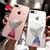 Caisse de téléphone de modèle de sirène pour l'iPhone 6 7 8 X