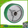 Grüne PU auf Cast Iron Core Trolley Wheels für Caster