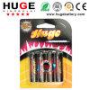 batteria dello zinco del carbonio del rivestimento di PVC di 1.5V aa (UM-3/R6P)