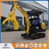 中国のログのグラブが付いている安いクローラー掘削機のセリウムの証明2.2tonの小型掘削機