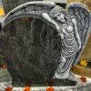 Headstone blu dei memoriali di angelo del granito del Orion
