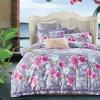 贅沢で標準的なジャカードポリエステル綿織物のシーツセット