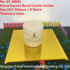 4mm Yellow Bevel Glass Candle Holder