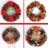 各国用の木の装飾的なコレクションのクリスマスの赤い混合された花輪(C-6)
