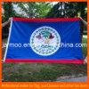 Рекламировать прочный связанный 110g флаг полиэфира