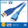 USB 3.0 um macho ao micro cabo do macho de B