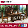 En bois de style américain longue table à manger pour mobilier de maison (comme l835)