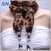 Écharpe embellie par impression faite sur commande de léopard