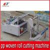 Automatische Ausschnitt-Maschine für Plastik-pp. gesponnene Gewebe-Rolle zu den Stücken
