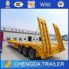 3개의 차축 굴착기 수송 판매를 위한 낮은 침대 트럭 트레일러