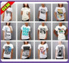 T-shirt estampé par coton sexy de mode pour les femmes (W265)
