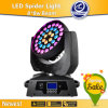 Hete New Products voor 2015 36*10W RGBW 4 in 1 Zoom Wash LED Moving Head Light