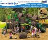 Equipamento ao ar livre de madeira Hf-10202 do campo de jogos de Playsets das crianças