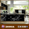 Kitchen Furniture (ZH-C850)のためのBottom黒いWhite Flower紫外線MDF