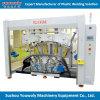自動車バンパーの溶接機を杭で囲う超音波プラスチック溶接熱