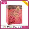 Rotes Blumen-Muster-Kraftpapier-Bekleidungsgeschäft-Geschenk-Papierbeutel