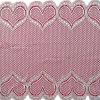 Branco Coração de malha elástica rendas elásticas de tecido de nylon