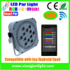 건전지 강화하는을%s 가진 세포 Phone Control Rechargeable LED PAR Light