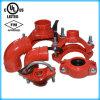 Te mecánica de la regadera del U-Bolt de las instalaciones de tuberías del fuego con UL/FM/CE aprobado