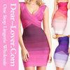 La plus nouvelle robe de bandage d'arc-en-ciel de mode