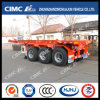 Cimc Huajun 20FT 3axle Plate-forme arrière Skeleton Container Semi-remorque