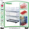 Alambre promocional del almacén del supermercado que empila cestas