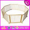 2015 Nuevas salidas fuera de bebé plegable de madera corralito cuadrada o redonda bebé de lujo de alta calidad corralito cerco de seguridad bebé W08H006