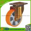 Industrielles Swivel Caster mit Polyurethane Mold auf Aluminium Core Wheel