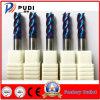 4 flautas HRC<65 carboneto de tungsténio a extremidade plana do lagar com revestimento Naco-Blue