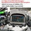 새로운 공장은 4.3  기관자전차 자전거 차 GPS 항해자 붙박이 66 채널 소형 GPS, 800MHz Cortext-A7, Bluetooth, 토요일 Nav를 방수 처리한다