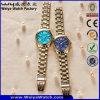 De Digitale Horloges van de Manier van het Horloge van het Kwarts van het Embleem van het Merk van de douane van Gouden Kleur (wy-17005F)