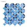 Плитка мозаики цветного стекла ванной комнаты Paterred художника малая голубая для Backsplash