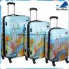 Stadtbilder New York City 3-Piece stellten 20  /24  /28  erstklassiges Spinner-Gepäck-gesetzter Koffer ein