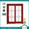 Portes de verre en bois coulissantes composées en bois pour projet