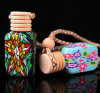 Bottiglia di profumo di ceramica dell'olio essenziale del pendente delle terraglie dell'automobile dell'OEM