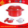 鋳鉄のエナメルのカセロールのグリドルのグラタンか鋼鉄調理の鍋または調理器具の金属のカセロール