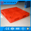 Pálete resistente antiderrapante do plástico do armazenamento da superfície do dobro da cor vermelha