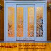 De witte Schuifdeur van het Glas van de Korrel van de Verf Houten (GSP3-034)