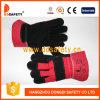 De zwarte Handschoenen Dlc228 van de Veiligheid van de Handschoen van het Leer van de Koe Gespleten