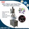 Tecla Semi-Auto Colar máquina de enchimento com funil para Jam (GZA-2)