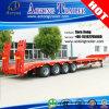 80-100tons 4 Vrachtwagen van de Aanhangwagen van Assen de Lage Flatbed Semi met Dolly