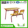 Escritorio de madera y silla del doble de los muebles fijados para el estudiante (SF-23D)