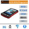 Tablilla de la pista con RFID Smart Card Reader, lector de huellas dactilares, un código de barras