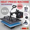 5 in 1 macchina multifunzionale della pressa di calore del pettine con trasporto libero