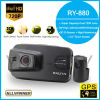 Ночное видение Ry880 камеры широкоформатного объектива объектива 720p миниого варианта автомобиля DVR GPS двойное