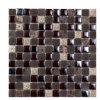 Mattonelle di mosaico di cristallo di riflessione della resina di vetro rustica