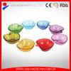 Piastre di vetro colorate figura sveglia del Apple, piatto di dessert di vetro, piatto di dessert di vetro poco costoso del commercio all'ingrosso