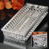 Silber überzogener Gewebe-Kasten (BF 11298 D)