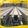 Perfil de aluminio anodizado de la protuberancia de la ranura de V para la cadena de la exposición/de producción